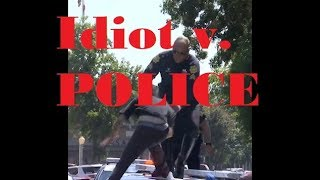 Man Jumps on Police Car Then The Police Get Him!
