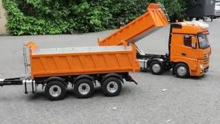 BEST OF RC - AMAZING 8X8 TIPPER AND THREE AXLE TRAILER - FROM THICON MODELS !