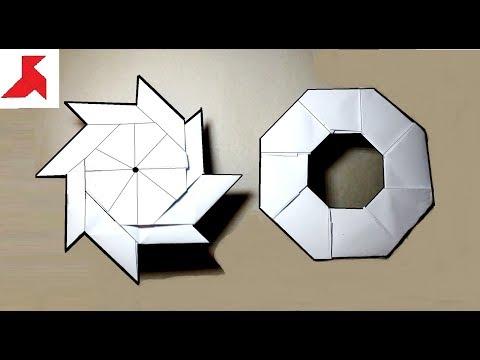 Видео как сделать из бумаги 8 конечный сюрикен