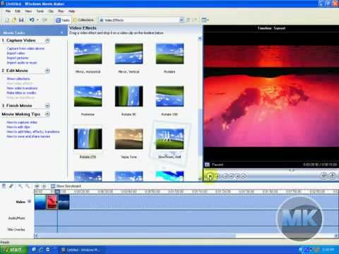 Windows XP Movie Maker - Rotate a Video or Image - YouTube