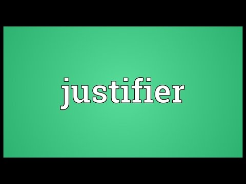 Header of justifier