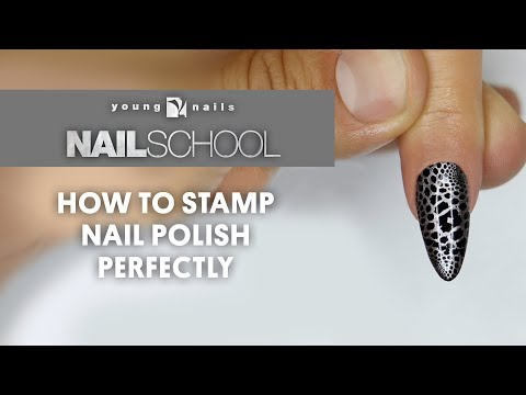 YN NAIL SCHOOL - HOW TO STAMP NAIL POLISH PERFECTLY