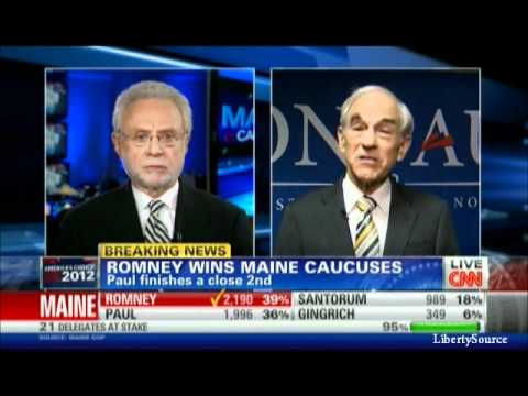 Ron Paul interview with Wolf Blitzer after Maine Caucus CNN 2/11/12