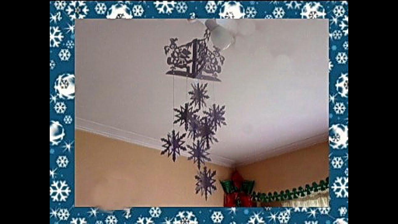 Снежинка своими руками на светильник