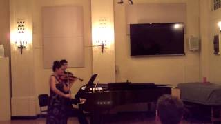 Celil Refik Kaya Sonata for violin and piano, violinist Elaine Ng and pianist Mark Hui