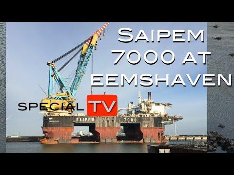 Saipem 7000 at Eemshaven for repair. SpecialTV Journal
