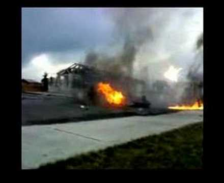 explosion car
