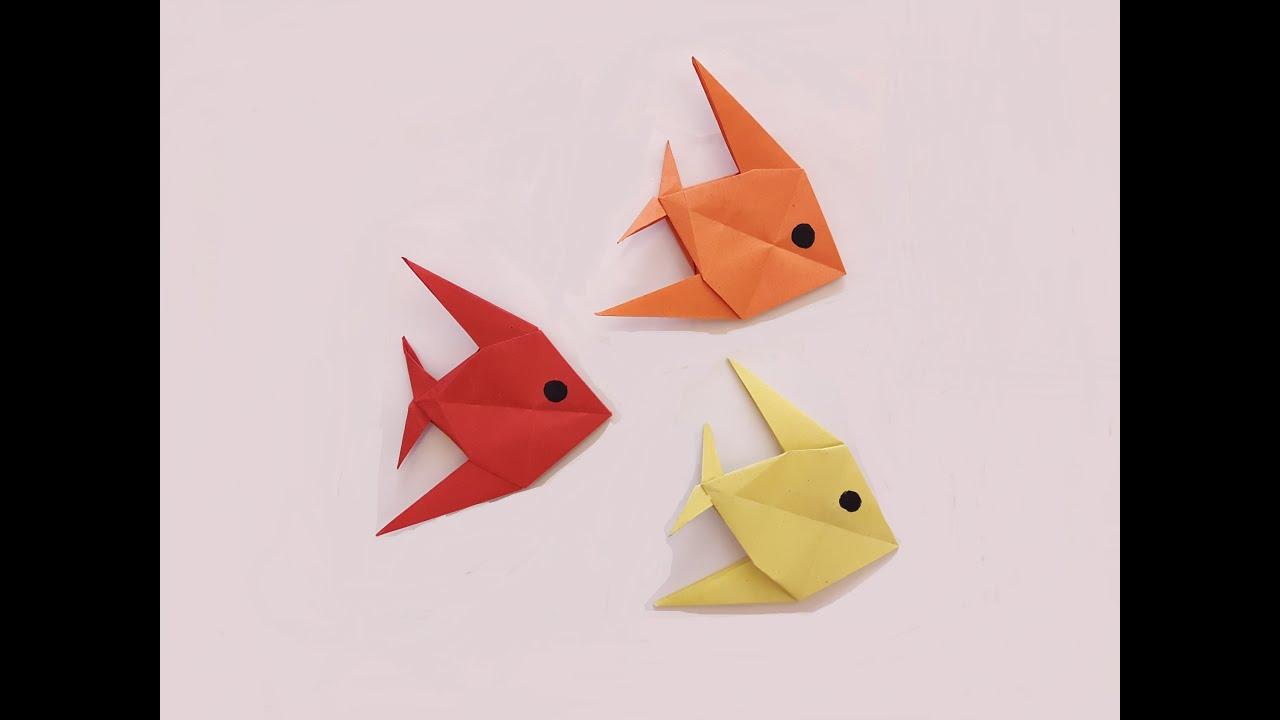 Надувные оригами из бумаги рыбка
