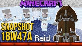 Minecraft 1.14 Snapshot 18w47a Pillager Outpost & Pillager Raids!