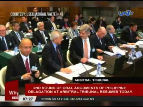 2nd round of oral arguments of Philippine delegation at arbitral tribunal resumes