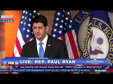 MUST WATCH: Paul Ryan Speaks After Meeting with Donald Trump - FULL Press Conference