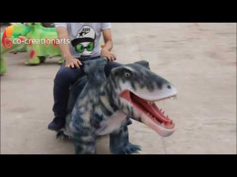 dinosaur ride car