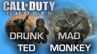 Call of Duty: Ghosts - Mad Monkey Easter Egg + Two Drunk Teddy Bears (TED) Easter Egg