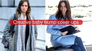 Creative baby bump cover-ups