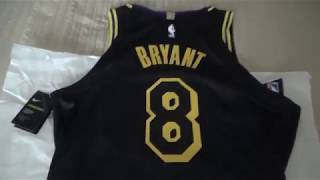 Los Angeles Lakers Kobe Bryant City Edition Authentic Jersey Unboxing/Review