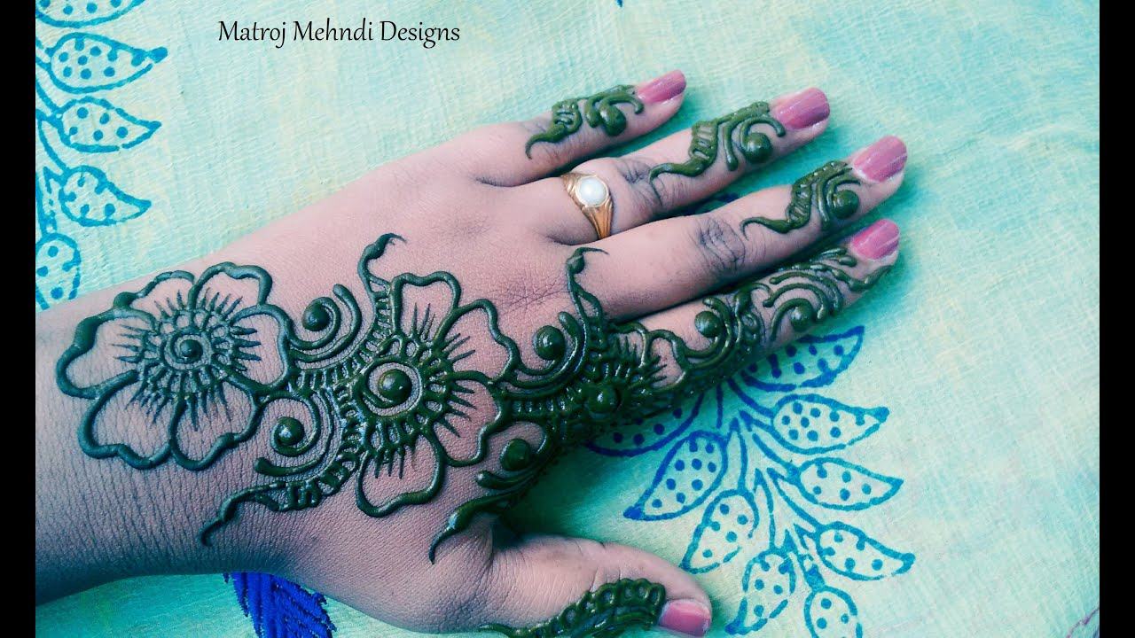 50 Latest Simple and Easy Mehndi Designs 20182019