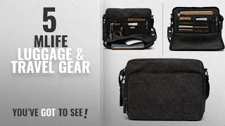 Top 10 Mlife Luggage & Travel Gear [2018]: Mlife Men Canvas Messenger Bag (Black)