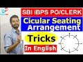 Circular seating arrangement reasoning tricks| English | SBI Clerk | PO | IBPS | RRB | Shortcuts thumbnail