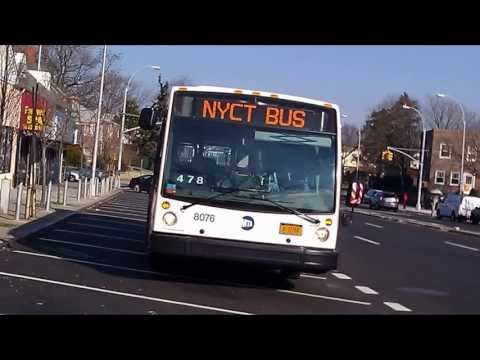 MTA NYCT Bus: NovaBus LFS #8076 recording