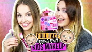 Full Face Using ONLY KIDS MAKEUP CHALLENGE mit xLaeta! • Makeup NUR mit Kinderschminke?!