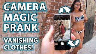 Girl's Clothes VANISH! -  How to Camera Magic Prank!!