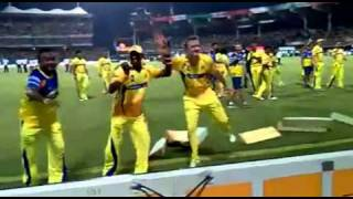 Bollinger and Bravo dancing for tamil beat in IPL final 2011 ...