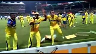 Bollinger and Bravo dancing for tamil beat in IPL final 2011 ...