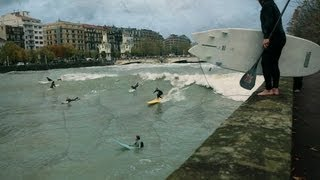 Surfing Urumea River