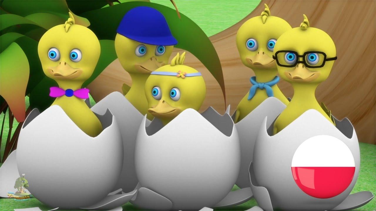 Pięć Małe Kaczki |Polskie Piosenki Dla Dzieci |Przedszkolnym Piosenki |Maluch Muzyki | Rymy 3D