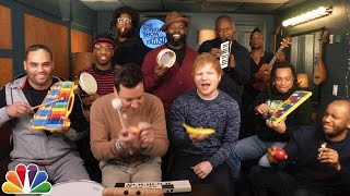 Ouça Jimmy Fallon Ed Sheeran & The Roots Sing Shape of You Classroom Instruments