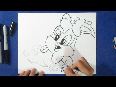 Cómo dibujar a Lola Bunny Looney Tunes