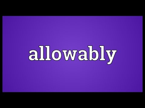 Header of Allowably