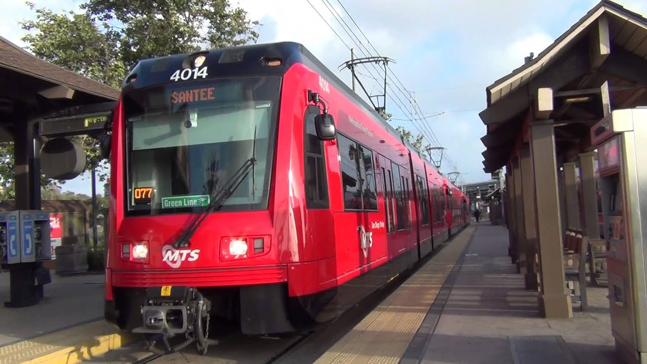 san diego mts trolley siemens s70 4014 green line departing old town youtube. Black Bedroom Furniture Sets. Home Design Ideas