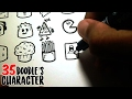 HOW TO DRAW 35 DOODLE CHARACTER! | Speed Drawing
