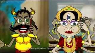 Bored Ashur and hip Durga - Subho Mahalaya