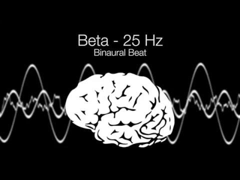 'Focused Thoughts' Beta Binaural Beat - 25Hz (1h Pure)