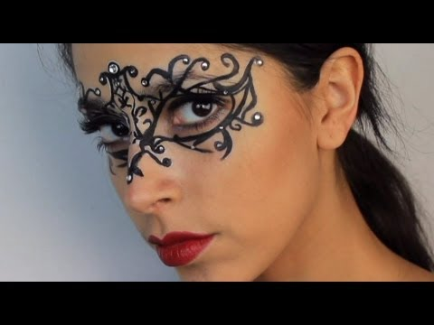 Halloween Makeup: $5 Masquerade Mask  YouTube - Makeup Mask Ideas