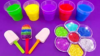 Making 3 Sparkle Ice Cream out of Play Doh | Learn Colors  Noodle in Magic Microwave