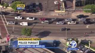 Police Chase - GTA suspect in LA, CA September 17, 2013