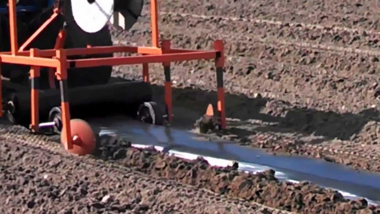 Homemade Plastic Mulch Layer Youtube