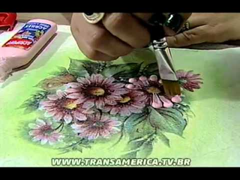 Tv Transamérica - Técnica: Decoupagem em tecido com relevo