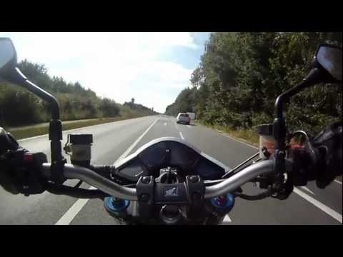 CB 1000 R 0-100 0-200 kmh Acceleration-Test (GoPro HD)