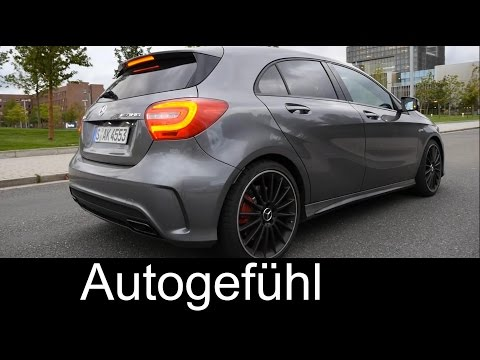 2015 Mercedes A-Class A45 AMG test drive review A-Klasse AMG - Autogefühl
