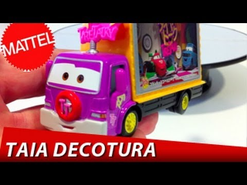 CARS 2 Taia Decotura #14 Diecast Tire Talky Truck Disney Pixar Mattel toys review