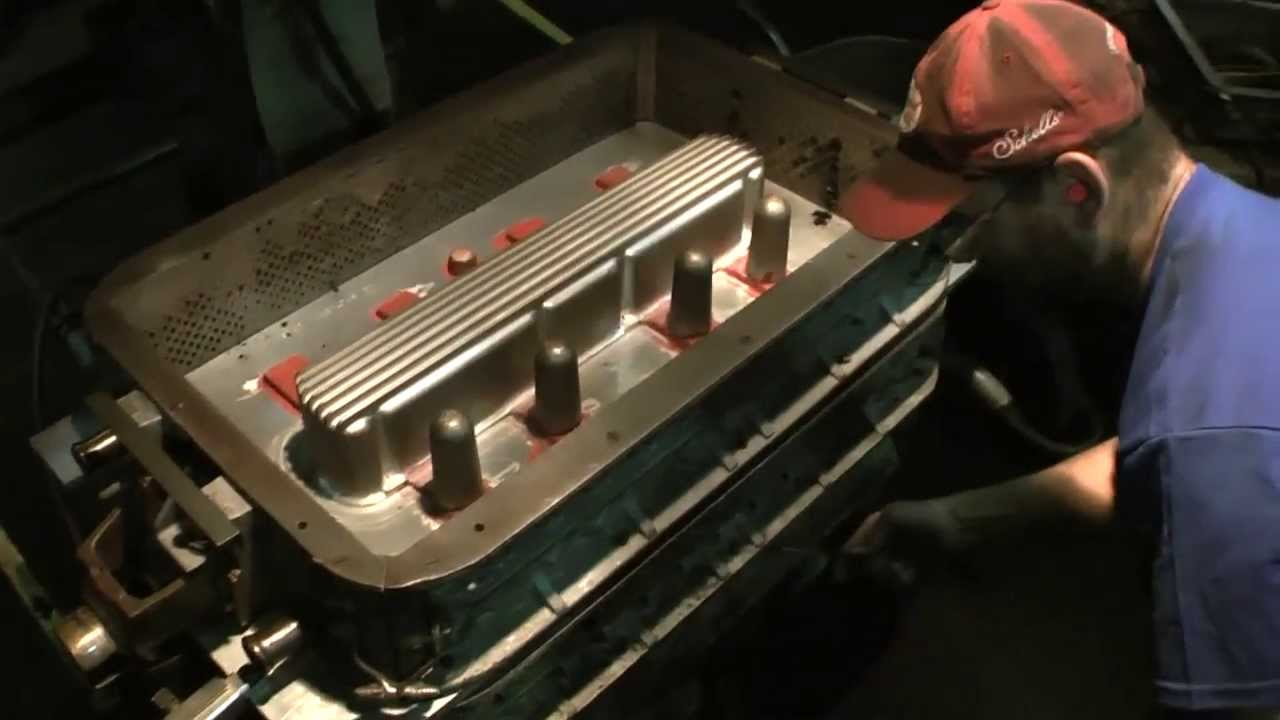 Casting Of Valve Cover For Chevy Inline 6 250 292 Foundry