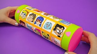 Funny Gift Box With Secret Code And Favourite Cartoons   DIY CRIPTEX SURPRISE FOR FAMILY AND FUN