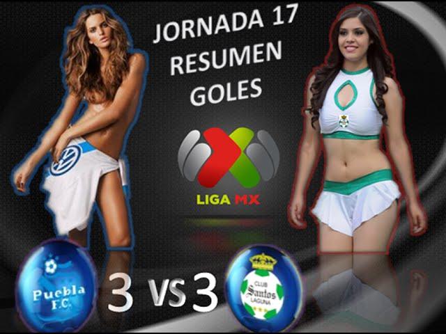 Puebla vs Santos 3-3 GOLES RESUMEN Jornada 17 Liga MX Apertura 2014 HD