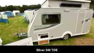 New Silver 340 TDE 2012 Pop Up Caravan
