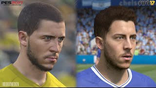 FIFA 17 vs PES 17 Chelsea ALL Player Faces Comparison (Xbox One, PS4, PC)