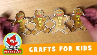 Gingerbread Man Christmas Craft for Kids | Maple Leaf Learning Playhouse
